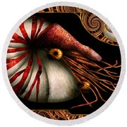 Steampunk - Nautilus - Coming Out Of Your Shell Round Beach Towel