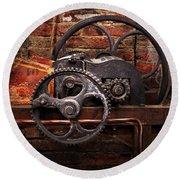 Steampunk - No 10 Round Beach Towel by Mike Savad