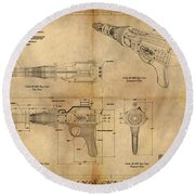 Steampunk Raygun Round Beach Towel