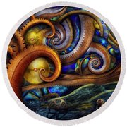 Steampunk - Starry Night Round Beach Towel