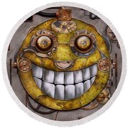 Steampunk - The Joy Of Technology Round Beach Towel