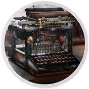 Steampunk - Typewriter - A Really Old Typewriter  Round Beach Towel