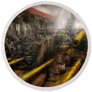 Steampunk - War - We Are Ready Round Beach Towel