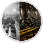 Steampunk - War - We Are Ready - Side By Side Round Beach Towel
