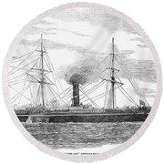 Steamship, 1853 Round Beach Towel