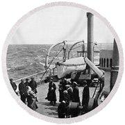 Steamship 1914 Round Beach Towel