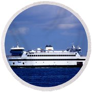Steamship Authority Ferry Round Beach Towel