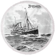 Steamship Menu, 1901 Round Beach Towel