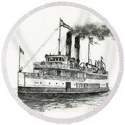 Steamship Tacoma Round Beach Towel