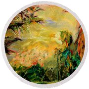 Steamy Cove Round Beach Towel