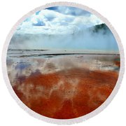 Steamy Springs Round Beach Towel