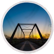 Steel Bridge Round Beach Towel