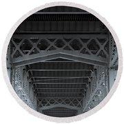 Steel Girder Bridge Round Beach Towel