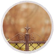 Steel Ornamented Fence Round Beach Towel