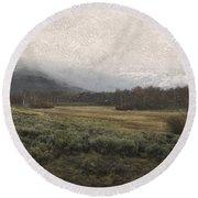 Steens Mountain Landscape - No. 2 Round Beach Towel