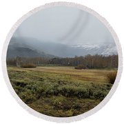 Steens Mountain Landscape - No 2a Round Beach Towel
