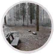 Steep And Frost - 3 Round Beach Towel