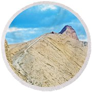 Steep Trail To Manly Beacon From Golden Canyon In Death Valley National Park-california  Round Beach Towel