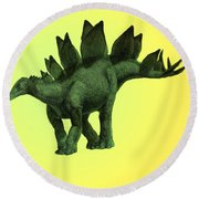 Stegosaurus Round Beach Towel