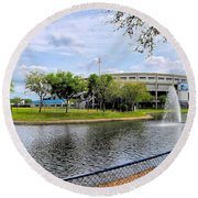Steinbrenner Field Lake 2 Round Beach Towel