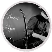 Stella Burns Loves You Round Beach Towel