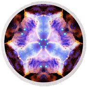 Stellar Spiral Eagle Nebula Vi Round Beach Towel