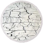 Step On A Crack Round Beach Towel