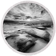 Step Stone Revisited Round Beach Towel