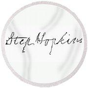 Stephen Hopkins (1707-1785) Round Beach Towel