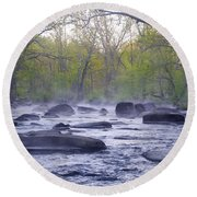 Stepping Stones Round Beach Towel by Bill Cannon