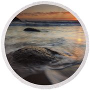 Stepping Stones Round Beach Towel by Mike  Dawson