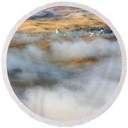 Steptoe Fog Clearing Round Beach Towel