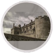 Sterling Castle Scotland Sterling Closed Grey Round Beach Towel