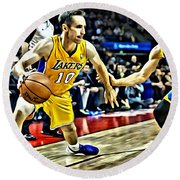 Steve Nash In Action Round Beach Towel