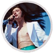 Steve Perry Of Journey At Day On The Green Round Beach Towel