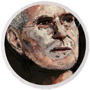Steven Paul Jobs Round Beach Towel