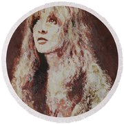 Stevie Nicks Round Beach Towel