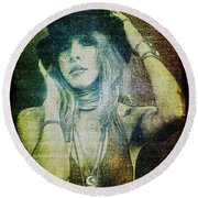 Stevie Nicks - Bohemian Round Beach Towel