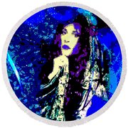 Stevie Nicks In Blue Round Beach Towel