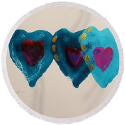 Stiched Together Round Beach Towel