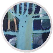 Sticker Tree Round Beach Towel