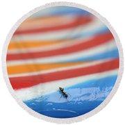 Sticky Rings Of Saturn Round Beach Towel by Luke Moore