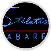 Stiletto's Cabaret Round Beach Towel