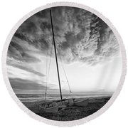 Still Ashore Round Beach Towel