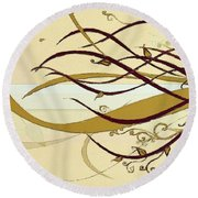 Still Branches Of Life Round Beach Towel