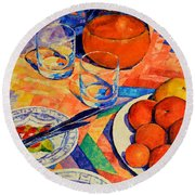 Still Life 1 Round Beach Towel