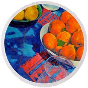 Still Life 2 Round Beach Towel