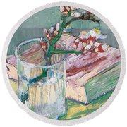Still Life    A Flowering Almond Branch Round Beach Towel