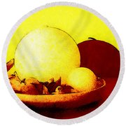 Still Life As We Know It Round Beach Towel