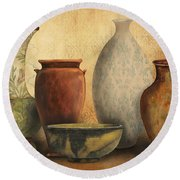 Still Life-d Round Beach Towel by Jean Plout